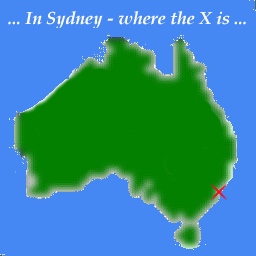 Map of Australia, zooming in on Sydney